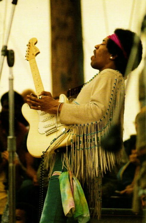 Jimi Hendrix closes out Woodstock in August 1969 with a two-hour set, which included his now iconic guitar solo improvisation of The Star Spangled Banner.