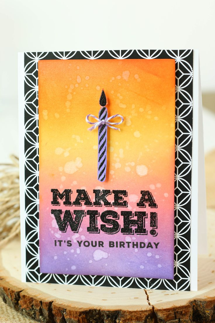 Birthday card made with Canvas Corp's Miscellanies paper, a few Distress Inks, and stamps from Simon Says Stamp! #SSSFave