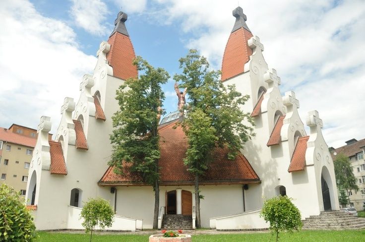 Roman Catholic Church / Millennium Temple in Miercurea Ciuc, Harghita architect: Makovecz Imre
