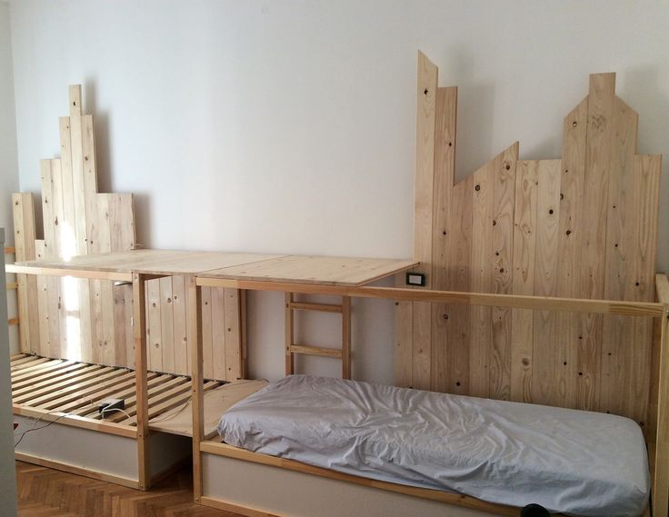 ikea kura hack triple bunk bed mommo design - Bunk Beds Ikea