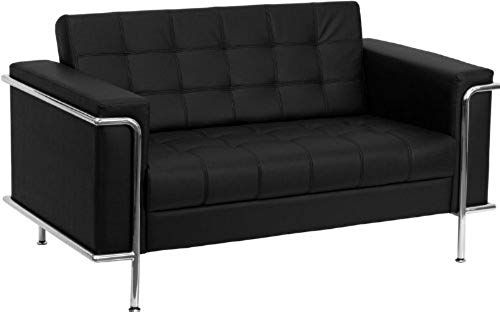 New Flash Furniture HERCULES Lesley Series Contemporary Black Leather Loveseat with Encasing Frame. Living Room Furniture [$659.99] from top store perfectfurniture