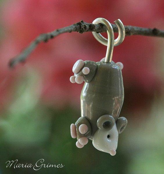Lampwork Polly le pendentif de Possum par gardenpathbeads sur Etsy, $17.00