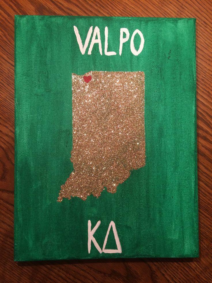 Kappa Delta sorority college craft canvas