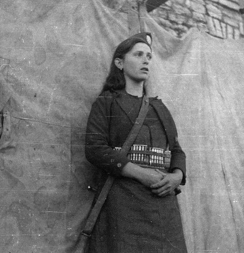by Costas Balafas  Partisan girl from Epirus, Greece, c.1941-1944.