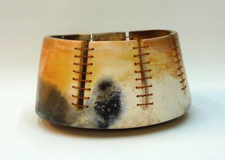 Smoke Firing- leather cord seam