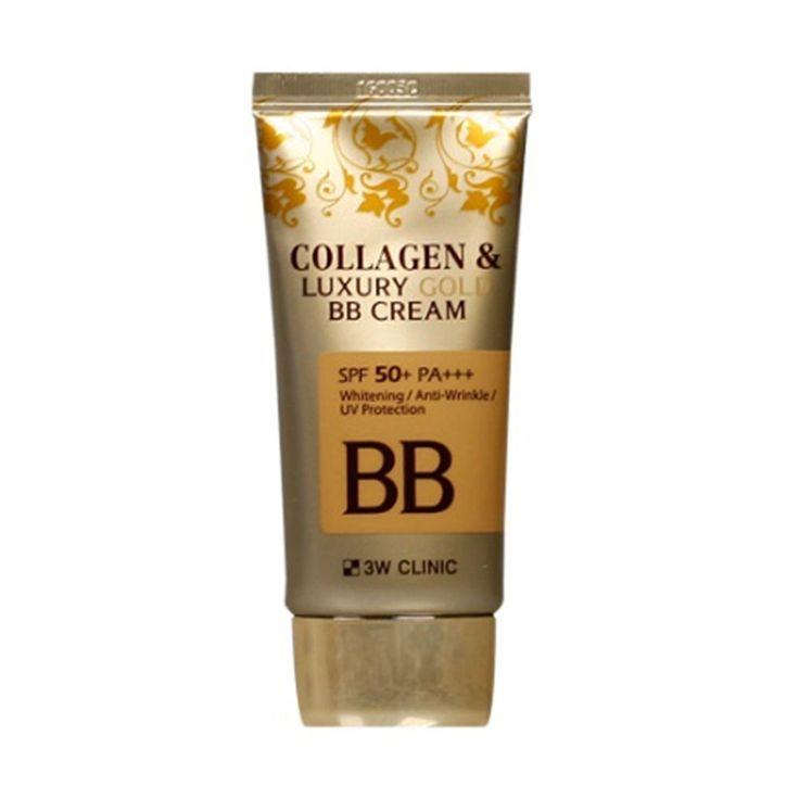 3W CLINIC Collagen & Luxury Gold BB Cream 50ml / 1.69oz (SPF50+ PA+++) #3WCLINIC #333korea #skincare #beauty #koreacosmetics #cosmetics #oppacosmetics #cosmetic #koreancosmetics