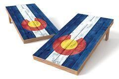 Colorado State Flag Single Cornhole Board-Vintage