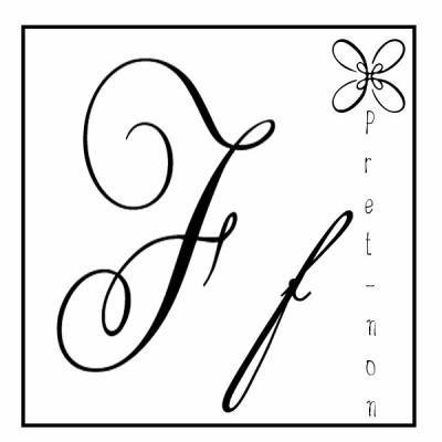 Tatouage lettre f calligraphie f pinterest recherche - Tatouage lettre l ...