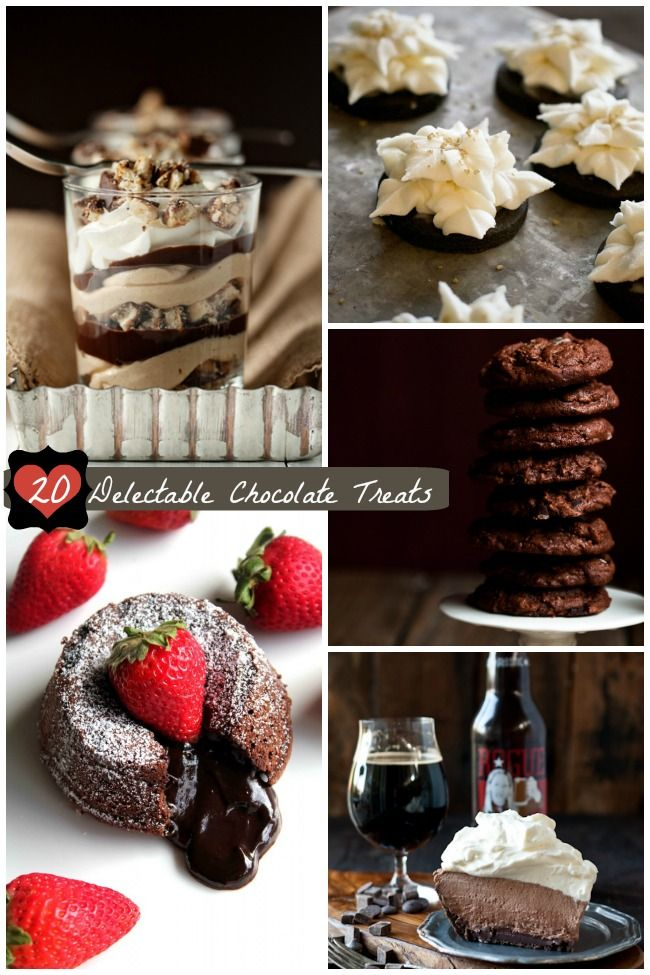 20 Delectable Chocolate Treats - Perfect for Valentine's Day or any time you are craving chocolate desserts. #ad #foodie