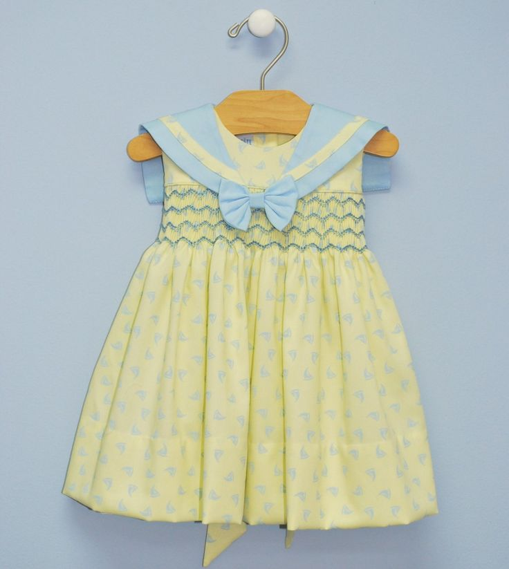 Smocked Sailing Geometric Dress