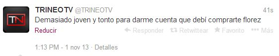 Al parecer el CM de @TrineoTV se equivocó de cuenta y perdió la clase de ortografía. ¿Qué opinas?