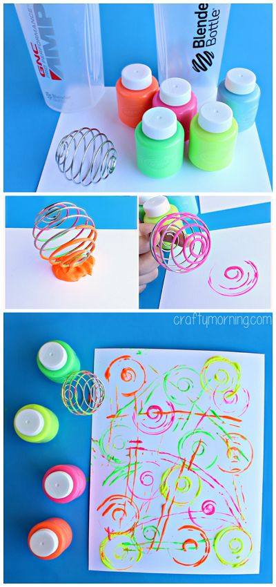 Blenderball Wire Whisk Painting Activity for Kids - Great for toddlers and preschoolers! | CraftyMorning.com