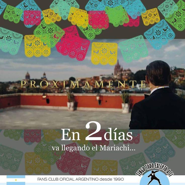 Tan sólo 2 días para el estreno oficial del video #LaFiestaDelMariachi Luis Miguel #CuentaRegresiva. El próximo Lunes 18 es la gran fiesta! 💙 #SanMiguelDeAllende #Guanajuato #MéxicoPorSiempre #Video #VideoClip #TengoTodoExceptoATi #Fanscluboficial #27añosJuntoAlRey #ArgentinaATusPies Warner Music