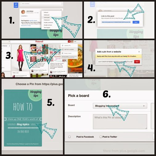 How to pin from Google+ to Pinterest.