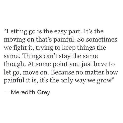 I got to let go for myself. I don't want mediocrity and right now I have less than that