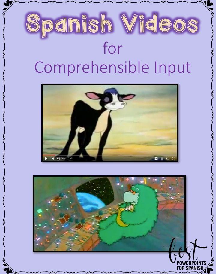 Spanish and French Videos for Comprehensible Input by Angie Torre FREE! This PowerPoint includes links to Spanish and French videos; vocabulary lists; practice activities; examples of student videos filmed with smart phones; links to 20 Spanish videos with Spanish subtitles, images, music that repeats vocab and concepts in context