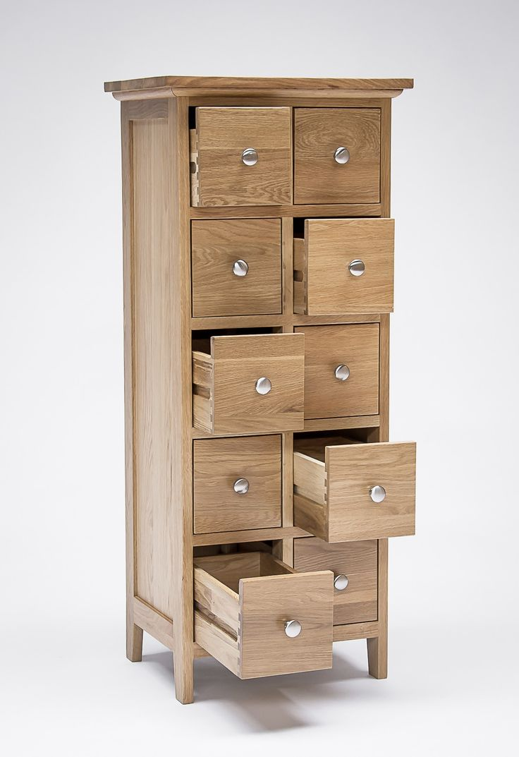 Sherwood Oak DVD and CD Storage Unit 10 Drawers - NEW - Bookcases & Shelving - Lounge & Living