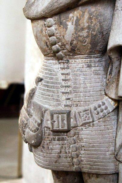 Quilted Jupon, Tomb of Aymon de Sarraz in La Sarraz, c. 1369., Switzerland