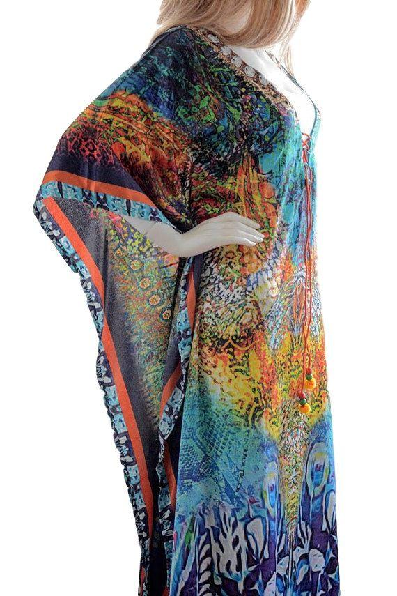 moroccan kaftan kaftan dress caftan kaftan silk by BaublesNBloom