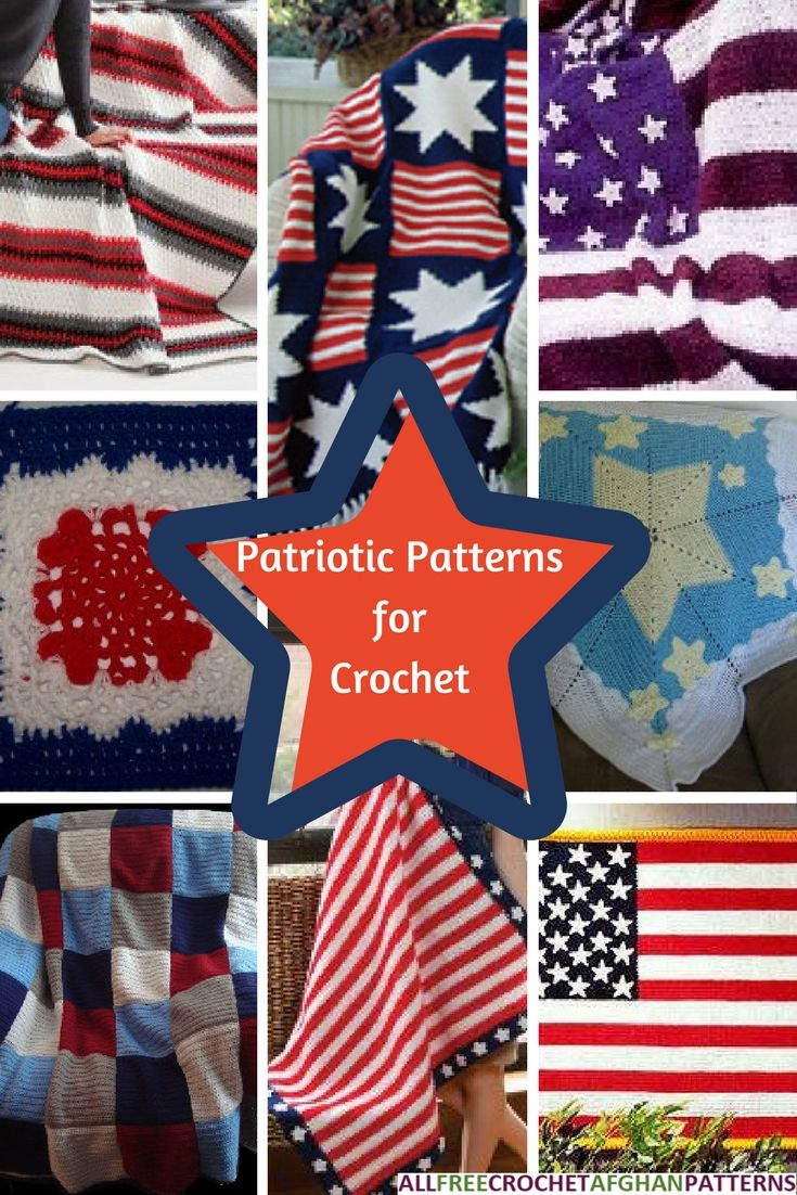 Celebrate Independence Day by making a patriotic crochet afghan!
