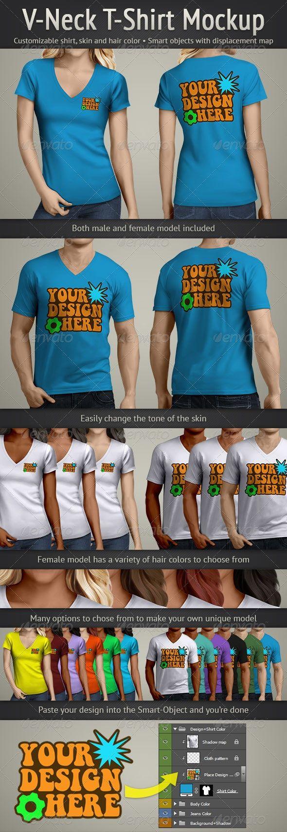 Download V Neck T Shirt Mockup Tshirt Mockup Shirt Mockup Clothing Mockup