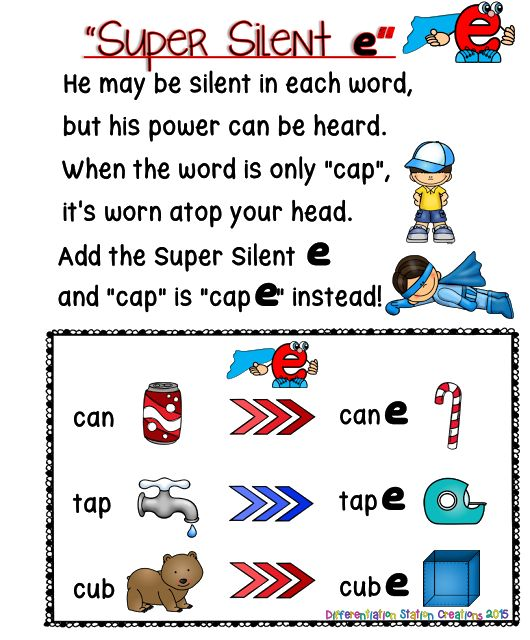 Super Silent E Free Anchor Chart In Color And Black And