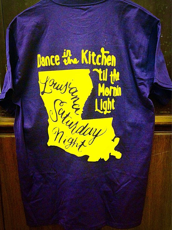 Louisiana Saturday Night T Shirt By Simplysouthernfixins