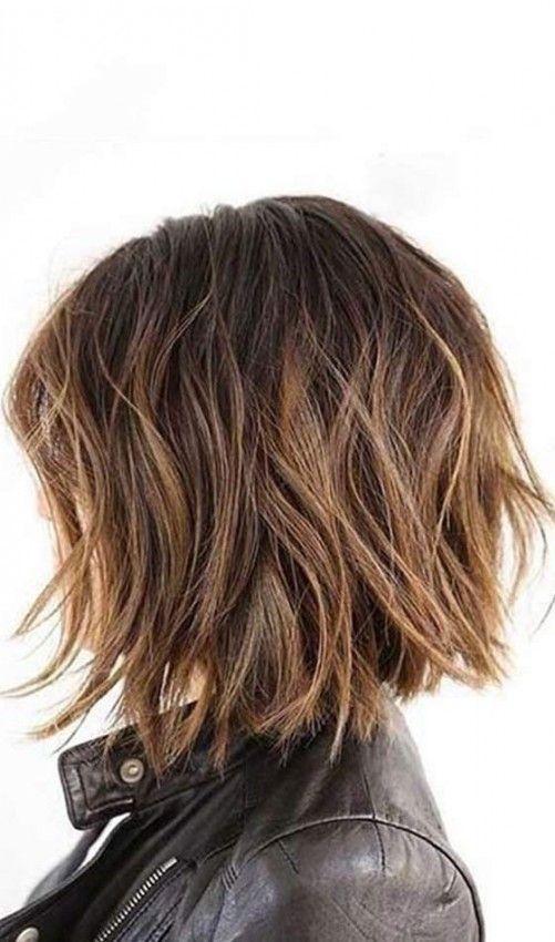Short Choppy Hairstyles - Messy Bob
