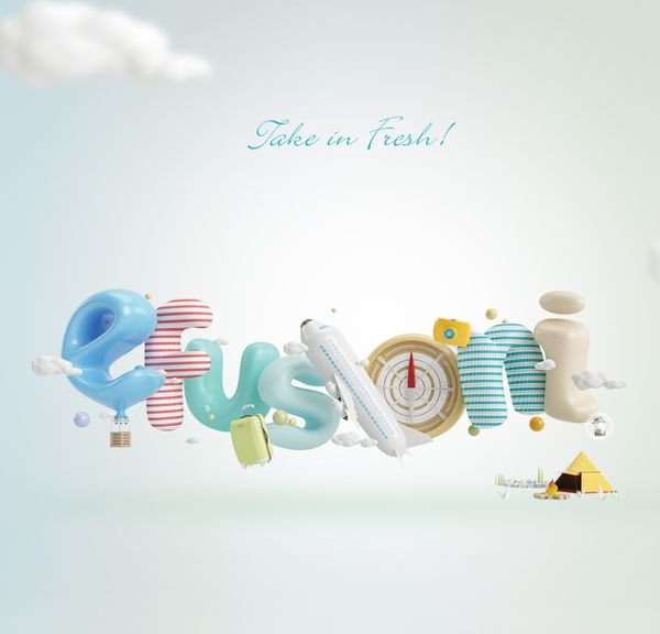 3d typography by Sion Junghwan: Take in Fresh!