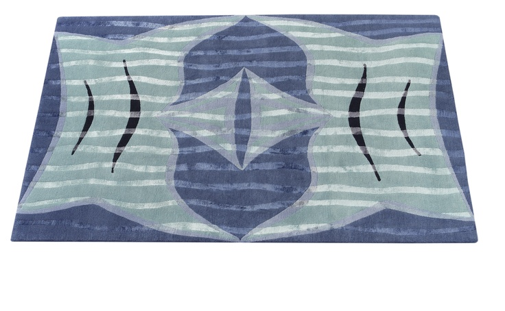 'Fish Tales' rug by Deirdre Dyson from the 'Designs from the Deep' collection.