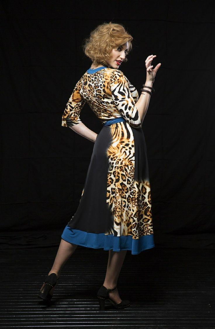 Reow!!  Hana is wearing the Liliana Wrapdress in 'black leopard'.  Purchase: http://sprinkleemporium.bigcartel.com/product/liliana-wrap-dress-aw2014