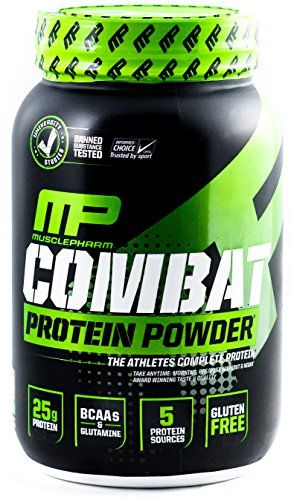 Muscle Pharm Combat Powder Advanced Time Release Protein, Chocolate Milk, 2 Pound