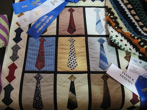 Love this for Father's Day. Need smaller shirts to lay well on the quilt. Possibly goodwill