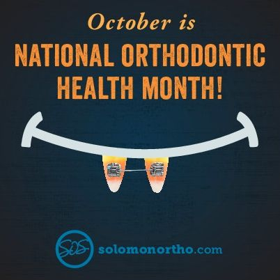 Happy National Orthodontic Health Month from SOS!                                                                                                                                                     More