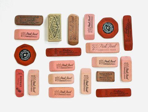 Lisa Congdon's Day 1: Vintage Erasers - 20x200
