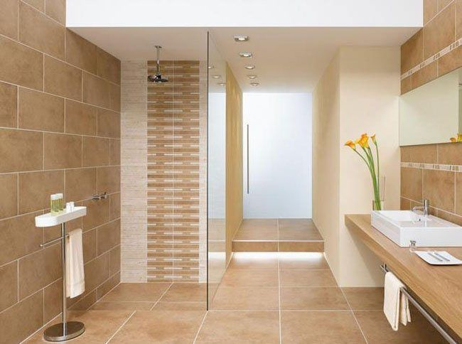 Bathroom Ceramic Tiles u2013 Turn your Bathroom from Ordinary into - wohnzimmer braun beige
