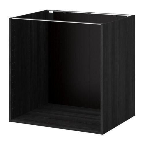 KJØKKEN METOD Benkeskapstamme   Tremønstret Svart, 80x60x80 Cm   IKEA