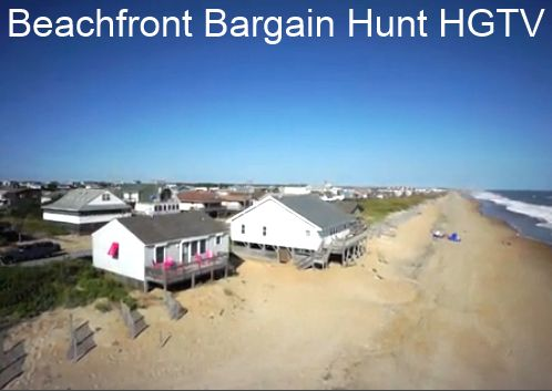 Beachfront bargain hunt on HGTV. I've seen this episode several times and I would totally buy this little cottage!