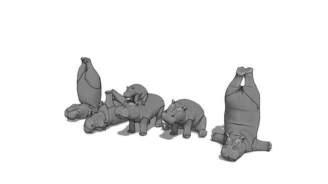 Hippos Figurines