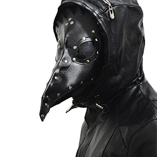 Homedecoam PU Leather Mask Plague Doctor Mask Halloween Props Steampunk Kostüm Schnabelmaske Mittelalter Pest-Maske Doktor Arzt Kopfmaske: Amazon.de: Spielzeug