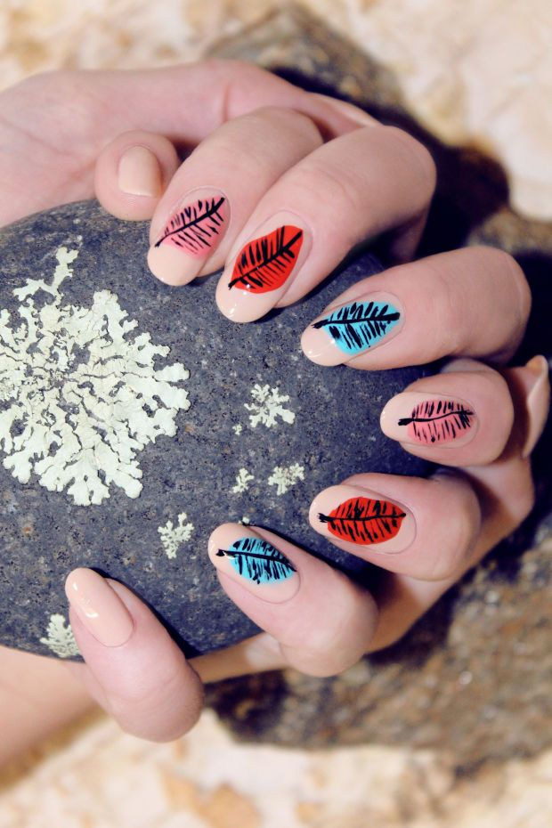 251 best leaf nail art gallery by nded images on Pinterest   Nail ...