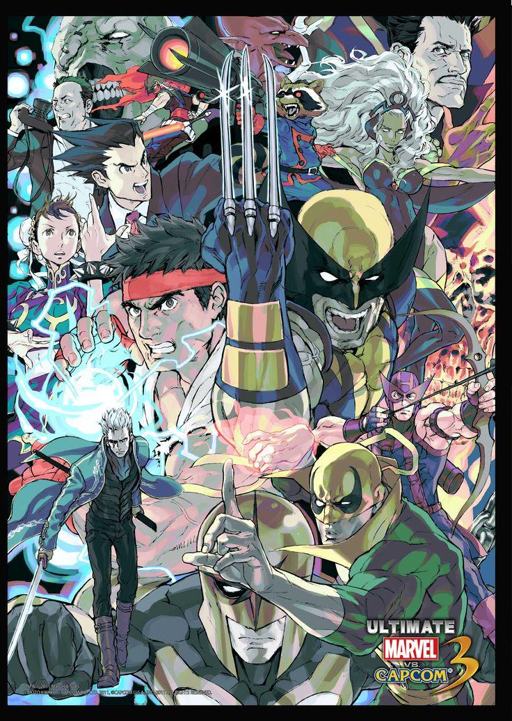 Ultimate Marvel vs Capcom 3 art by Kinu Nishimura