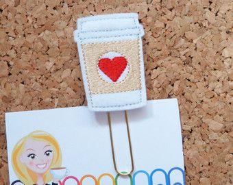 Fieltro café favorito  Clip de papel de pan de por TheBookNookPatch