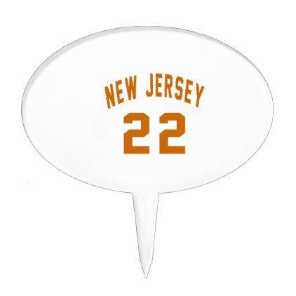 #New Jersey  22 Birthday Designs Cake Topper - #giftidea #gift #present #idea #number #22 #twenty-two #twentytwo #twentysecond #bday #birthday #22ndbirthday #party #anniversary #22nd