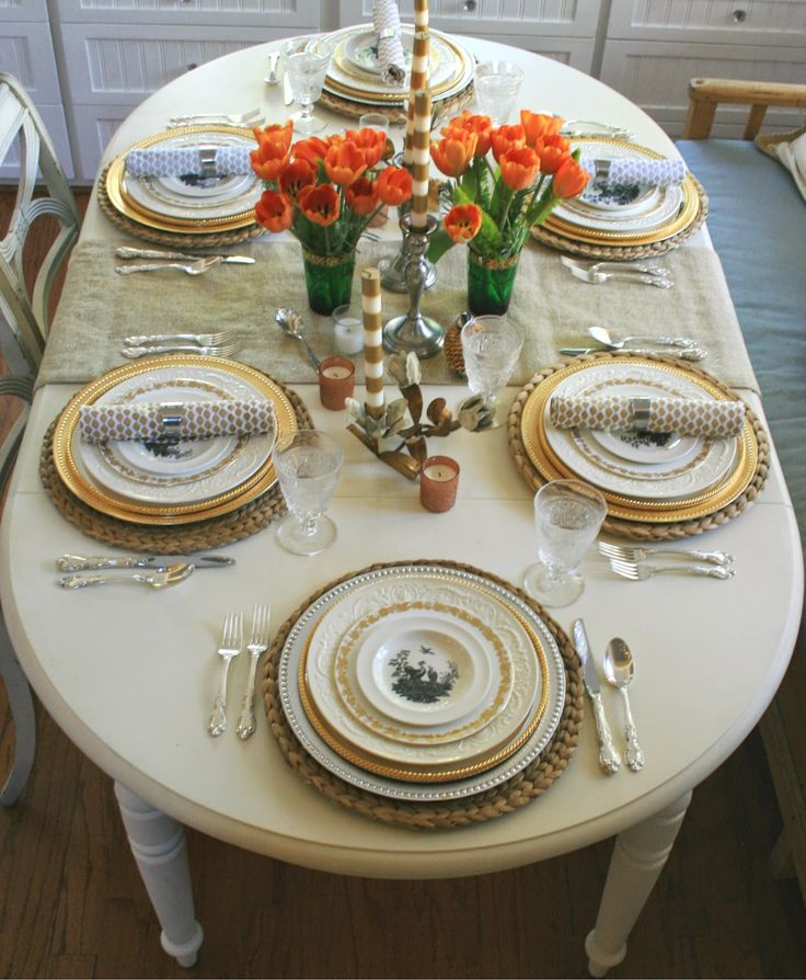 my Thanksgiving table is all set ! & 1156 best table setting images on Pinterest | Place settings Dinner ...
