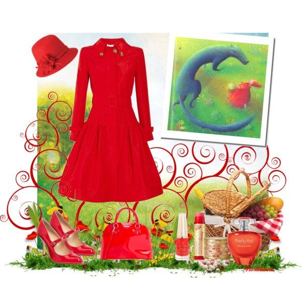 """""""Inspired to Little Red Riding Hood"""" by fiordiluna on Polyvore"""