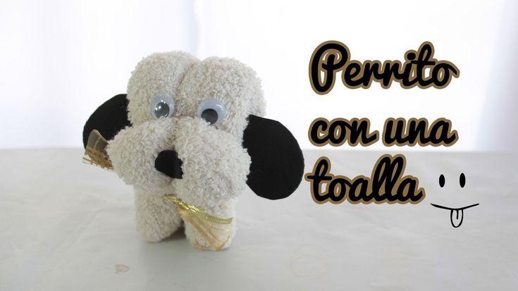 perrito de toalla