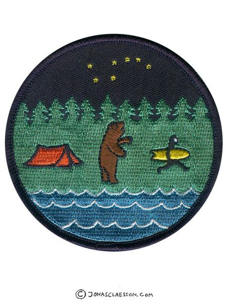 Bear Country Embroidered Patch