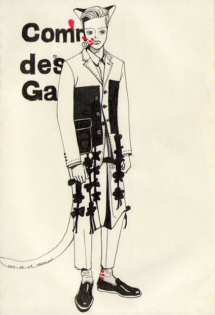 Come Des Garcon fashion illustration by Ray Suisui | Flickr