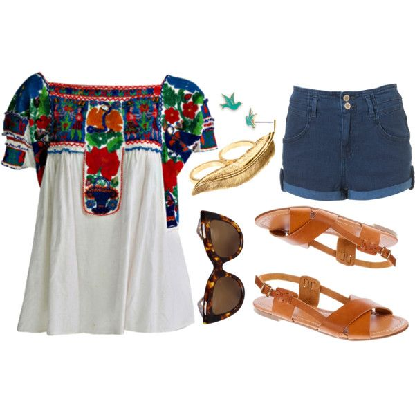 mexican shirt, sandals, summer, shorts!